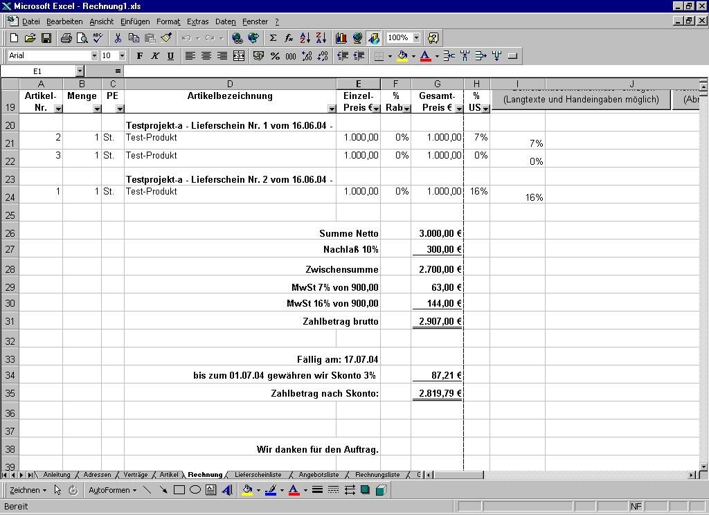 einfache nebenkostenabrechnung software
